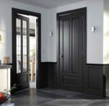Interior MDF Wood Door with Two Lites, Kitchen Room Door