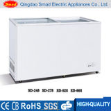 New-Style Slide Open Flat Glass Door Chest Freezer
