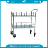 (AG-SS006) Economic Durable Stainless Steel Frame Instrument Trolley