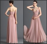 Spaghetti Party Prom Gowns Pink Chiffon Evening Dress E13425