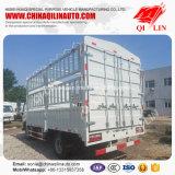White Color 4*2 Stake Box Truck for Livestock Transport