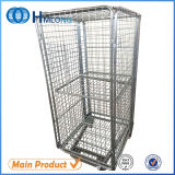 China Nested Storage Wire Mesh Roll Containers Manufacturer