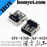 Right Angle DIP USB a Type Connector for Computer Parts (USB-AF-01D)