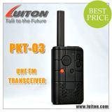UHF Handheld Small Size Walkie Talkie Pkt-03 Transmitter and Receiver