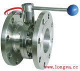 Stainless Steel Two Flanged Butterfly Valve