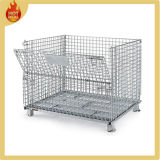 Warehouse Folding Metal Storage Cage for Sales