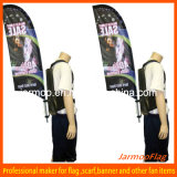 Custom Portable Advertising Backpack Feather Flag