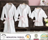 100% Cotton Solid Color Super Soft Children Bathrobe Df-8830