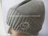 100%Cotton Winter Rib Knitted Hat Beanie