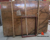 Tropical Rainforest Golden Marble Slab for Bathroom and Floor Tile