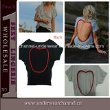 2015 Fashion Women Tee Shirt Sweet-Heart Back Tank Tops (TKYA306)