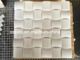 White Marble Mosaic 3D Pattern for Wall Decoration
