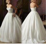 Beaded Waist A-Line Bridal Wedding Dresses (NWD1006)