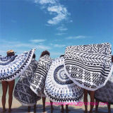 100% Cotton Round Circle Beach Towel with High-Quality