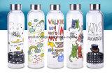 Sublimation Pyrex Glass Sport Bottle for DIY Logo