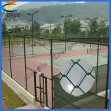 Sport PVC Coated Chain Link Fence Diamond Wire Mesh