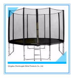 12FT Round Trampoline with Safety Enclosure and Ladder
