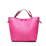 Hot Pink Studs Woman′s Designer Handbags (MBNO038031)