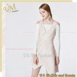 2017 New Products Deep V Neck Sleeveless Asymmetric Skirt Ladies Dress