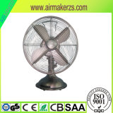 """12"""" Desk Fan with Silver Painted Decoration Part"""