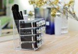White Color Factory Price Acrylic Makeup Brush Holder