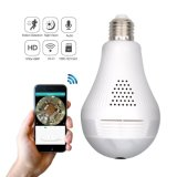 Home Security 360 Degree Hidden WiFi Light Bulb Camera