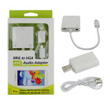 Micro USB Mhl to VGA Audio Cable Adapter for Samsung/HTC/LG