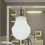 Modern Big Pendant Bulb Light with Milky Color
