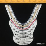 30*31cm Bulk Cotton Collar Lace Fabric Geometry Stripe Pattern Neckline Lace Elegant Banquet Dress Lace Trimming Colored Collar High Quality Hm2027