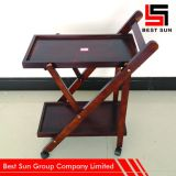 Wooden Serving Trolley Price, Foldable Kitchen Trolley