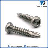 304/316/410 Stainless Steel Pan Head Hex Socket Self Drilling Screw