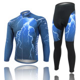 Men′s Lightning Pattern Cycling Clothes in Autumn