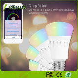 WiFi Controlled E26 9W Color Changing Smart LED Bulb with Remote Controlor
