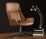 Bended Wood Upholstery Office Chair