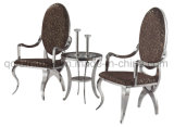 Hot Selling Stainless Steel Dining Chair with Armrest
