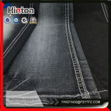 Mercerized 21s 98cotton 2spandex Slub Cotton Denim Fabric Black Color