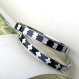 Luxury Jewelry Fashion Women Stainless Steel Customized Engraved Bangle