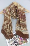 Printing Boho Polyester Scarf, Woven Shawl for Ladies Fashion Accessory