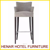 Comfortable Wooden Upholstered Bar Chairs New Style Bar Stool with Footrest