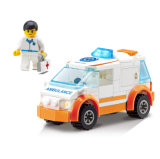 14885011-92PCS City Air Ambulance Rescue Teams Building Blocks Action & Toy Figures Bricks Boys Toys Gift Brinquedos