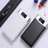 The Latest Generation Leather Cover Mobile Charger 10000mAh Power Bank with LCD