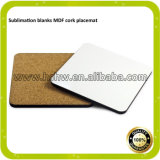 Sublimation Hardboard Coaster with Cork for Heat Transfer