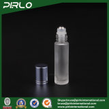 10ml Frosted Glass Roll on Bottle with Metal Roller and Blue Cap