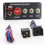 12V LED Ignition Switch Panel Engine Start Push Button Toggle Fit for Racing Car