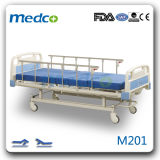 Good Price! Hospital Furniture, Medical 2 Cranks ABS Steel Manual Hospital Bed with Ce& ISO
