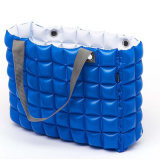 Blue Color Inflatable PVC Plastic Shopping Handbag