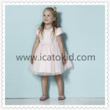 Hot Sale Baby Girl Party Dress Cap Sleeve Frock Designs Kid Prom Dresses