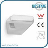 Wall Hanging One Piece Toilet Closet for Sale with Best Quality Cancealed Tank