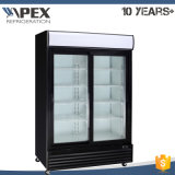 Lockable Single Door Display Refrigerator, Supermarket Beverage Upright Display Cooler