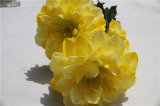 Beautiful Artificial Flower Yellow Fake Flower for Home Decoration